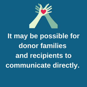 Can donor and recipient families meet?