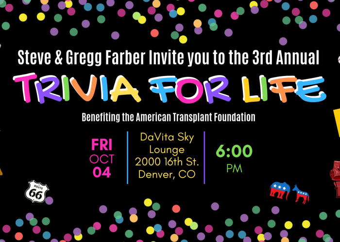 Trivia for Life Fundraiser - American Transplant Foundation